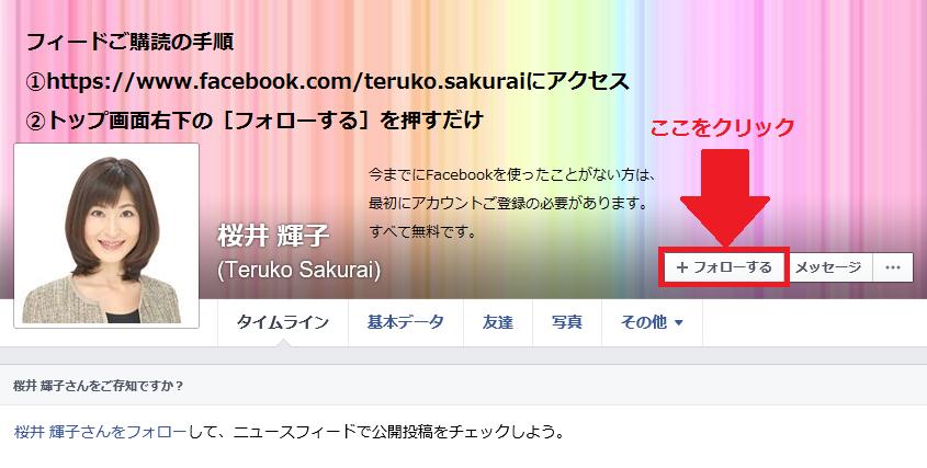 図解 Facebookフィードご購読方法